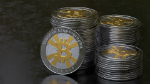 Bitcoin in piles